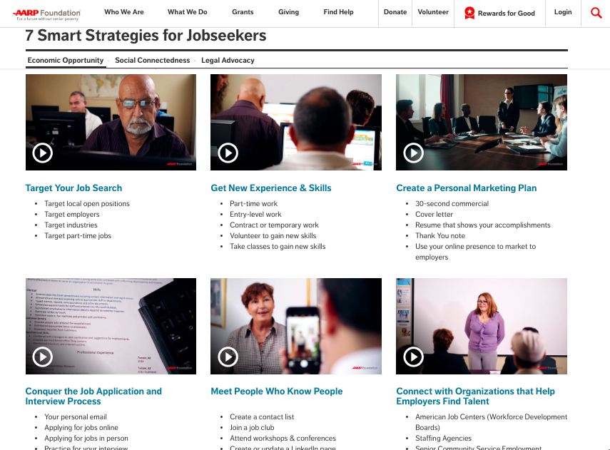 AARP Foundation 7 Strategies Two Parrot Productions Case Studies Video Production Nonprofits1