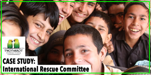 Two Parrot Case Study Graphics International Rescue Committee